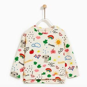 Zara baby koala 🐨 print sweatshirt